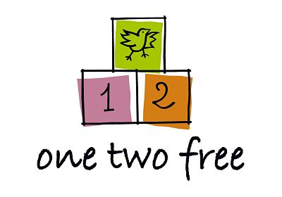 one two free logo